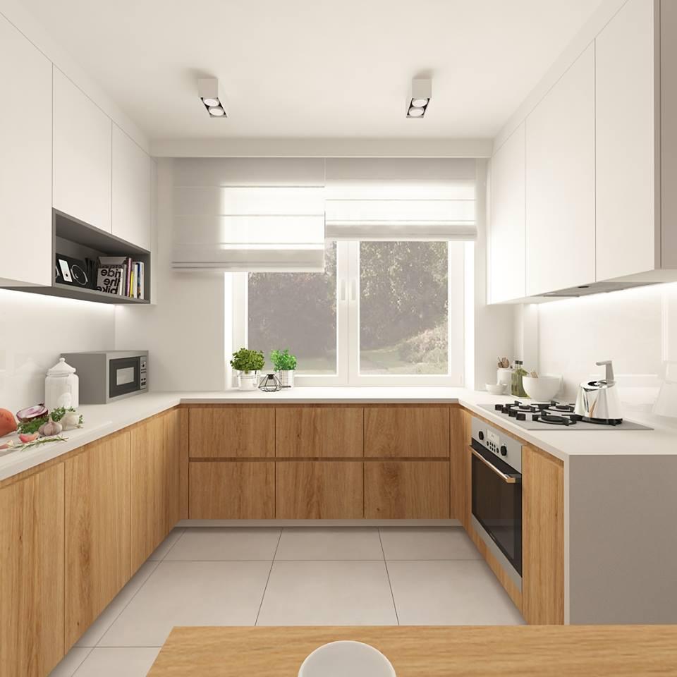 30 ideas de cocinas en blanco y madera i cocinas con for Cocina blanca y madera moderna