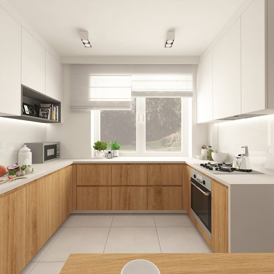30 ideas de cocinas en blanco y madera i cocinas con for Sillas de madera modernas para cocina