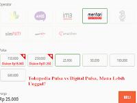 Tokopedia Pulsa vs Digital Pulsa, Mana Lebih Unggul?