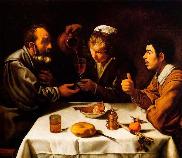 Диего Веласкес - Завтрак. Крестьяне за столом (ок.1620)