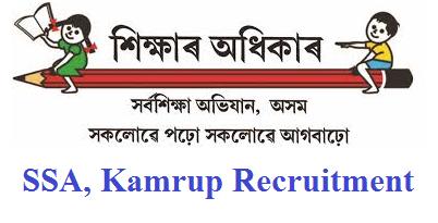 Axom Sarba Siksha Abhijan (SSA), Kamrup Recruitment 2019