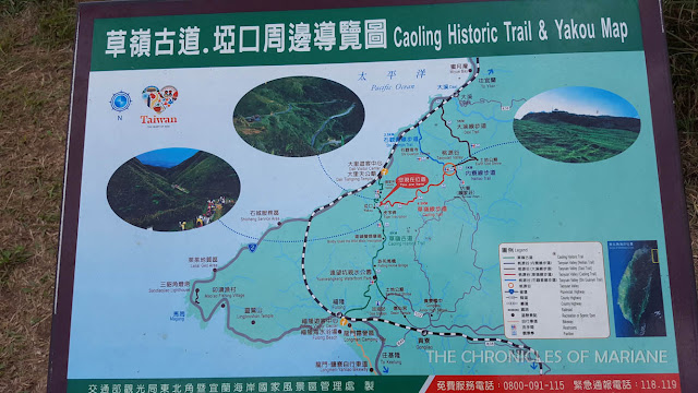 map taoyuan valley caoling trail