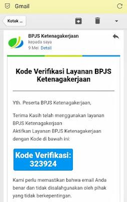 Kode verifikasi BPJS Ketenagakerjaan