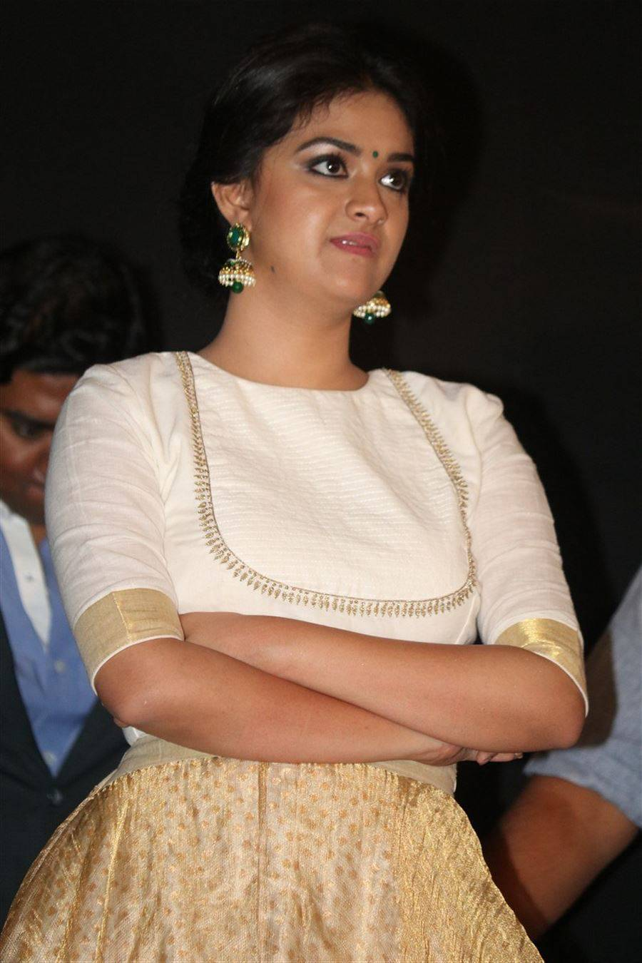 Keerthy Suresh Stills At Audio Launch White Dress