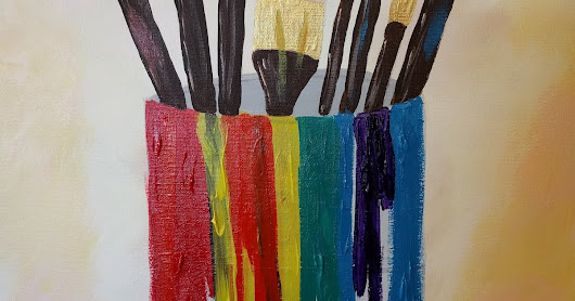 Paintbrushes in can