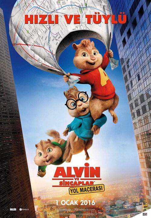 Alvin ve Sincaplar: Yol Macerası (2015) 720p Film indir