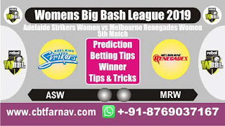 WBBL 2019 ASW vs MRW 5th Today Match Prediction Womens Big Bash League 2019