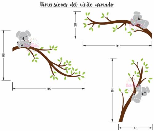 vinilo decorativo infantil koala rama