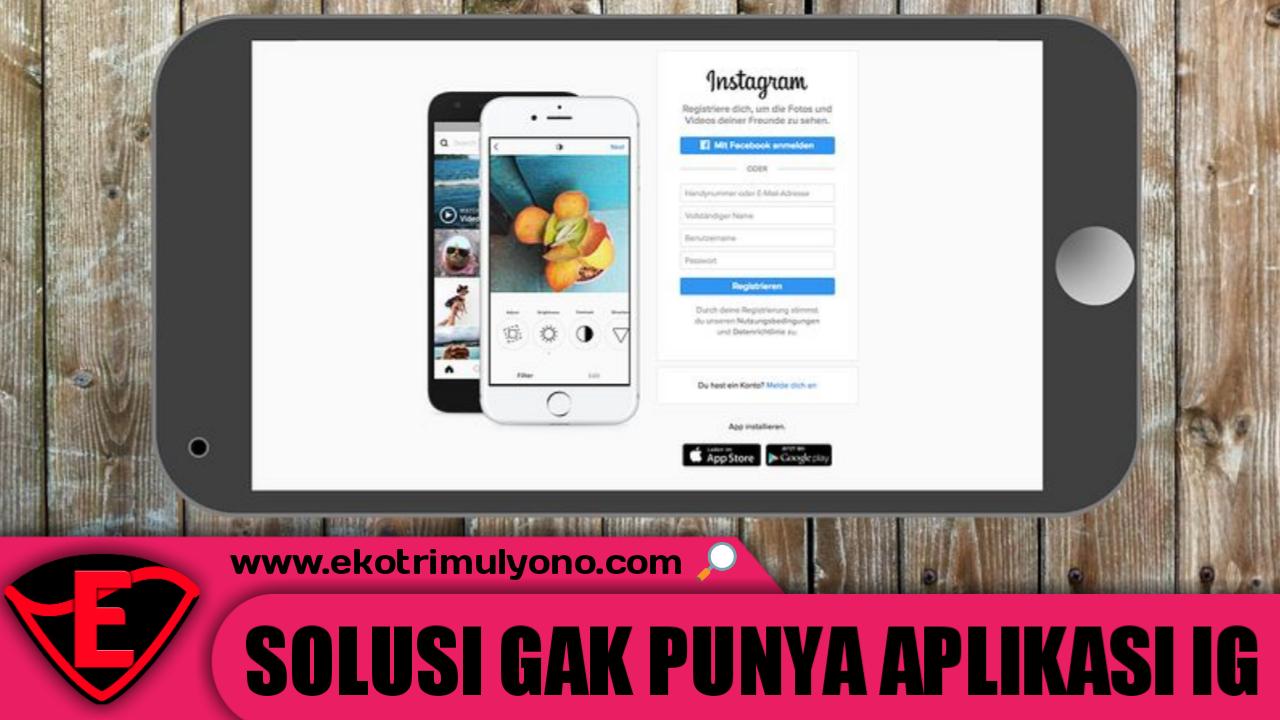 cara masuk instagram tanpa aplikasi