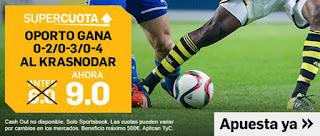 07/08|18:00 Krasnodar vs Oporto - Oporto gana 2-0, 3-0 o 4-0 (Antes 6.0) (Ahora 9.0)