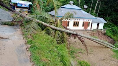 Hujan Deras,  Surau Al Hidayah Bonda Posuak Nagari  Taruang-Taruang Nyaris Tertimbun dan Terbawa Longsor