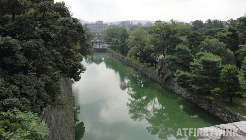 Nijo Castle (二条城)  Kyoto Japan honmaru palace view from donjon moat