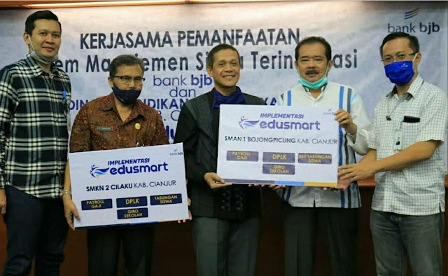 Kolaborasi bank bjb dan Dinas Pendidikan Cianjur Hadirkan Edusmart untuk Permudah Siswa