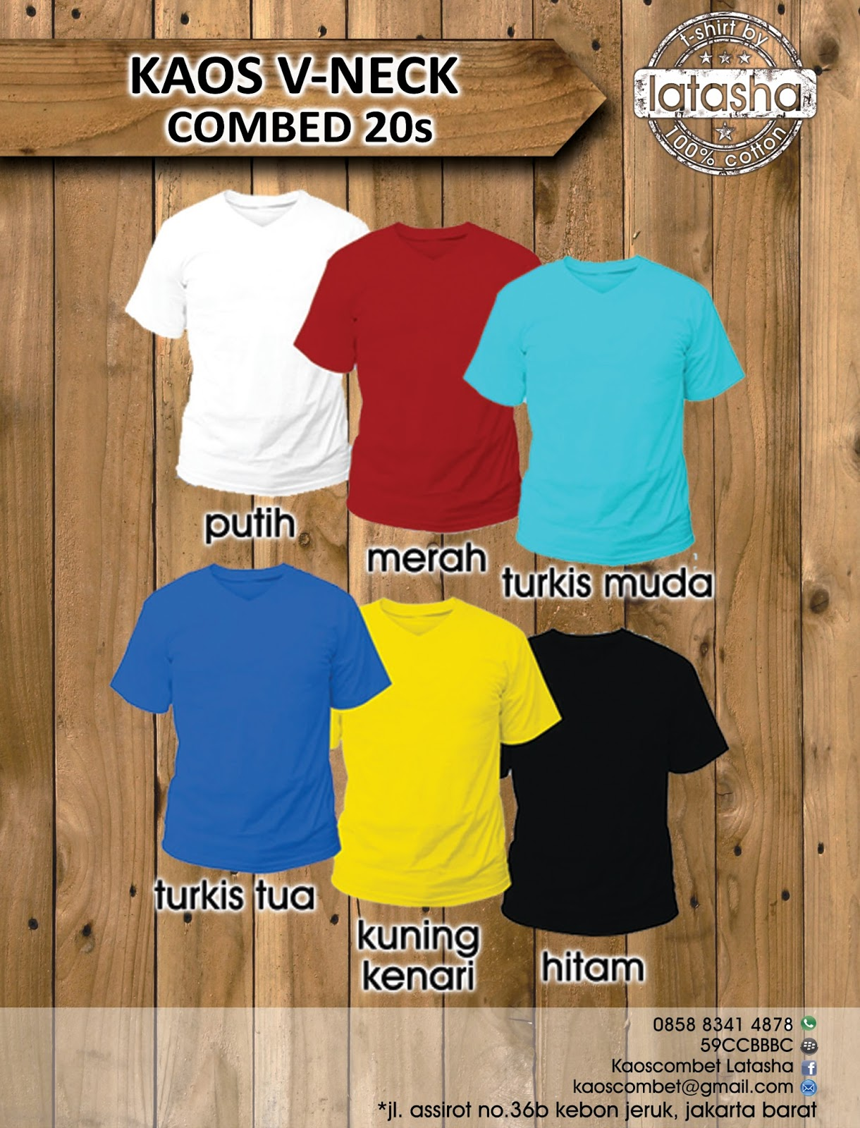 Print Kaos Digital Cotton Combed 20 S V Neck