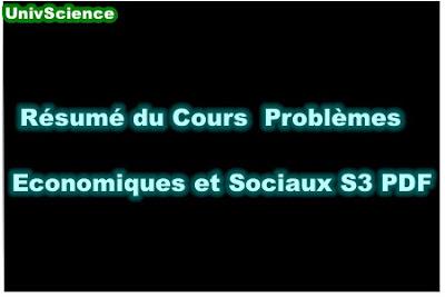 Résumé Du Cours Problèmes Economique et Sociaux S3 PDF.