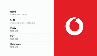 تشغيل الانترنت والوسائط المتعدد لشركة فودافون قطر