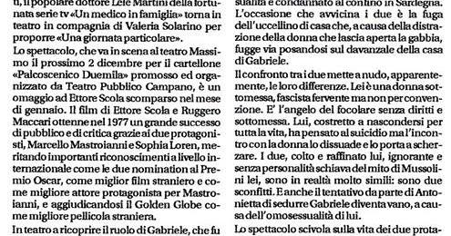 Giulio Scarpati in Campania con 'Una giornata particolare'