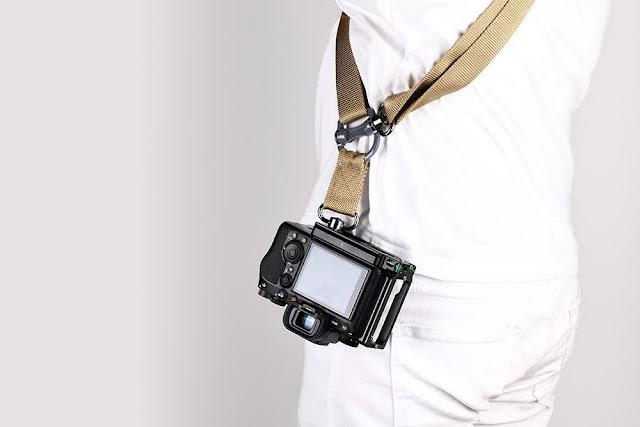 Sunwayfoto PSL-α1 L Bracket on SONY α1 w/ STR-01 Sling Strap