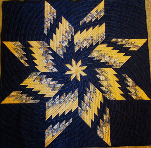 Twirling Swirling Dance Quilt Free Pattern Designed by Barbara H. Cline of Quiltin Gal