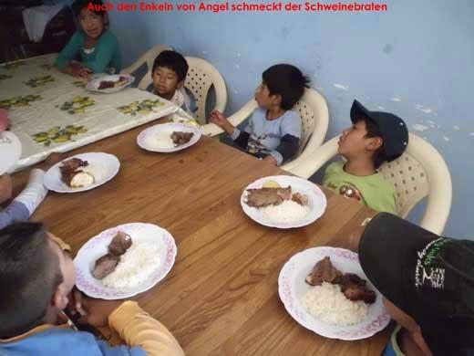 Auch den Enkeln von Angel schmeckt der Schweinebraten