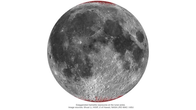 Το οξυγόνο της Γης μπορεί να σκουριάσει το σίδηρο στο φεγγάρι