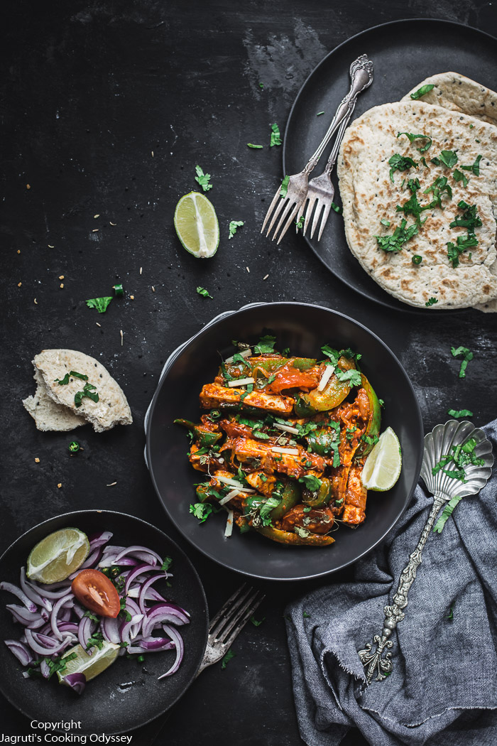 When you need a quick and easy paneer dish, this Restaurant-Style Paneer Jalfrezi has your back. It is a phenomenal vegetarian curry dish that is full of flavour and made with hearty chunks of paneer and comes together in 15 minutes.