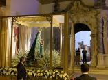 La Virgen de la Sierra realiza la «Bajá» a Cabra sin el tradicional bullicio, de madrugada y en vehículo