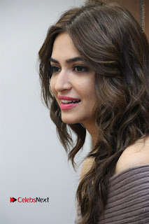 Kriti Kharbanda Stills in Short Dress at Bruce Lee Movie Press Meet Stills