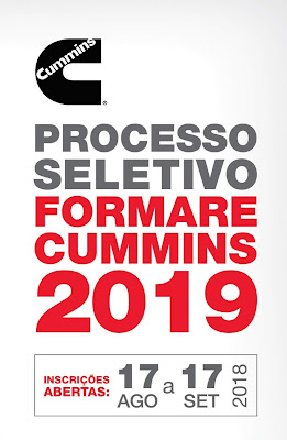 Cummins Brasil abre inscrições  para 6ª turma Formare