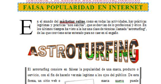 Resultado de imagen de El astroturfing