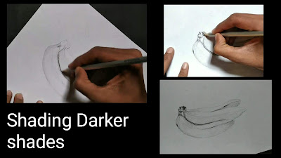 How to draw banana fruits, easy tutorial for to draw banana, easy kids drawing, step by step tutorial for to draw banana