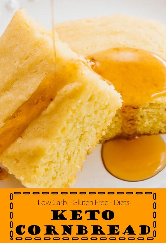 Keto Cornbread #Cornbread #Cake #Keto #GlutenFree #LowCarb # Diets
