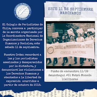 Concocatoria: Marcha 11 de septiembre 2021