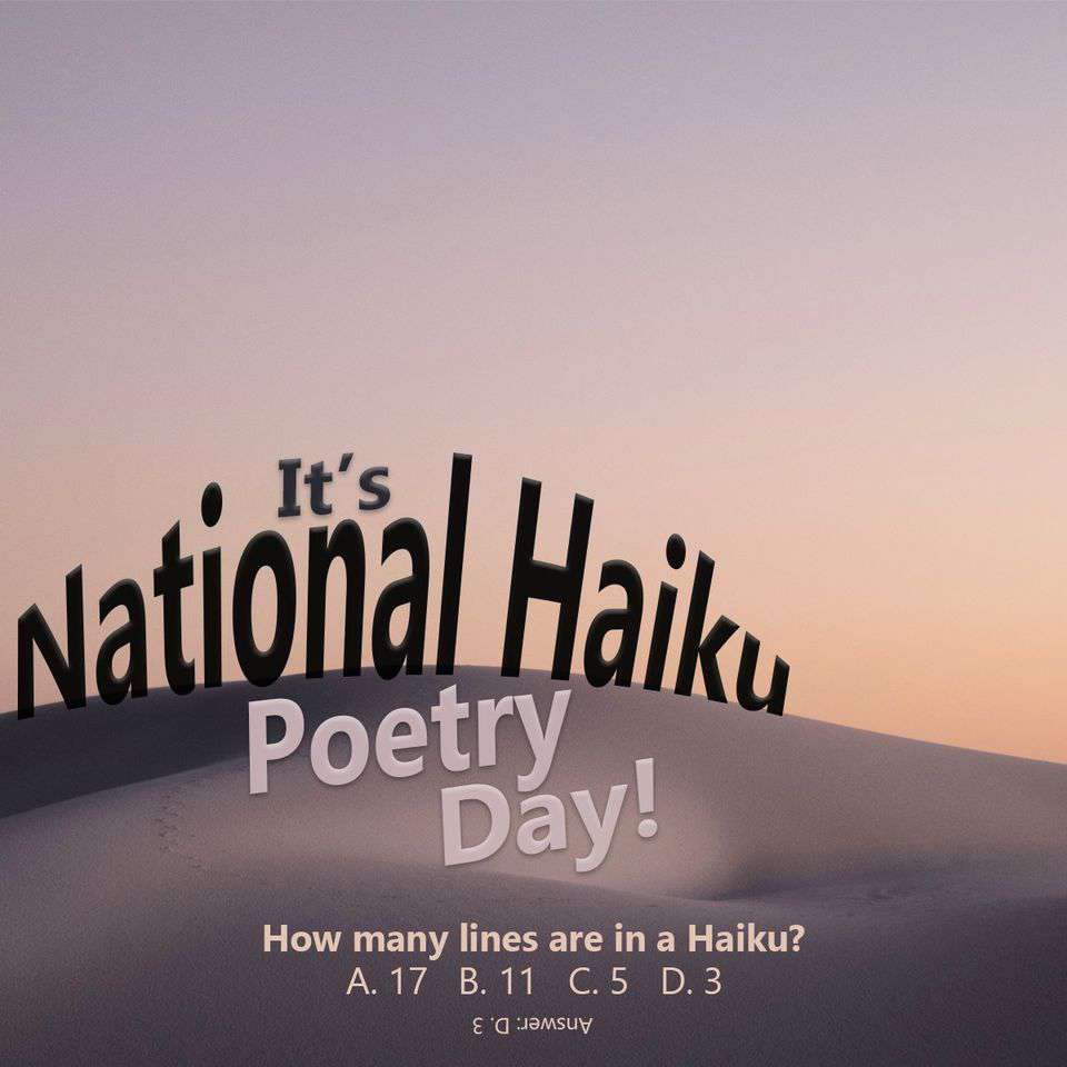 National Haiku Poetry Day Wishes Images download