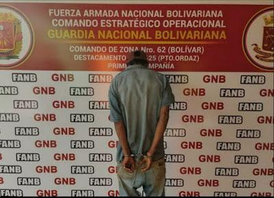GNB captura a hombre de 43 años señalado por abuso sexual