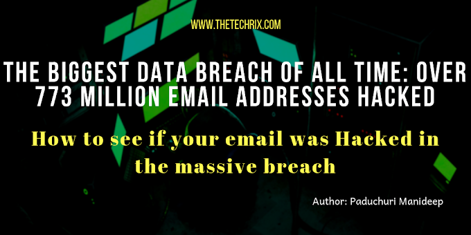 The Biggest Data Breach of over 773 Million Email IDs & Passwords