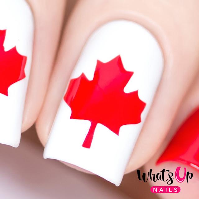 Whats Up Nails Canadian Flag Vinyls Stencils