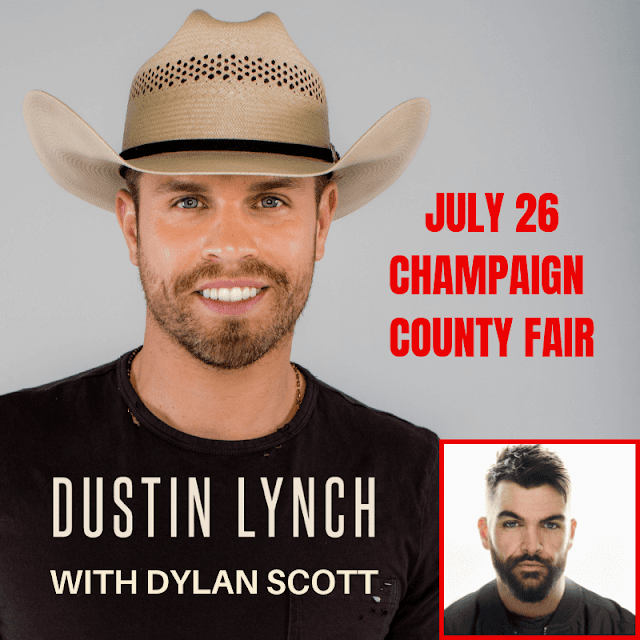 Dustin Lynch with Dylan Scott @ Champaign County Fair Friday July 26, 2019, Metamora Herald