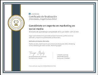 Conviertete en experto en marketing de social media en Colombia, certificado Linkedin learning