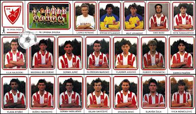 Crvena Zvezda Fudbal 91 Dečje Novine sličice