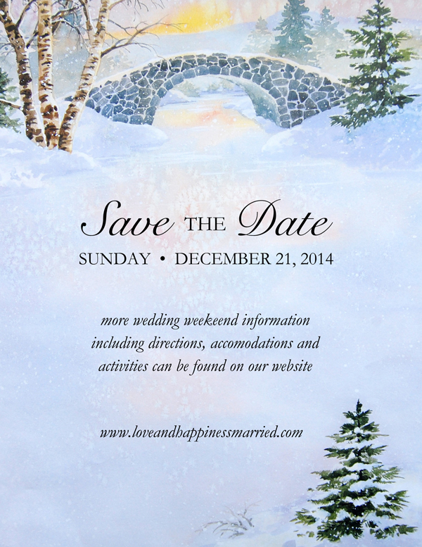 Save the Date idea on Winter Morn Letter Paper from Idea Art