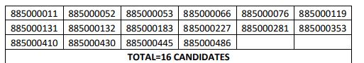 HPSSC Hamirpur Sr. Assistant (Accounts)  Post Code: 885 Screening Test Result 2021