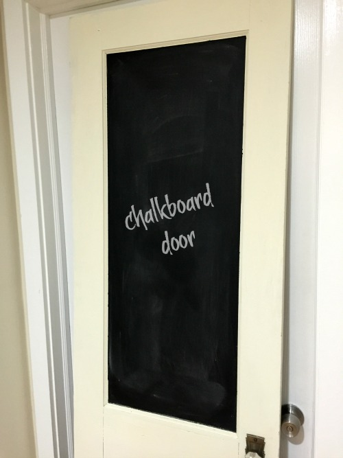 vintage door DIY chalkboard. Homeroad.net