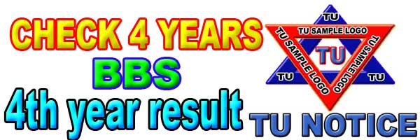 Check BBS 4th year result