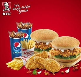 Buy Discount Voucher for KFC Zinger Burger, Crispy Chicken, Pepsi – worth Rs.604 for Rs.375 | worth Rs.364 for Rs.245 & more at Nearbuy