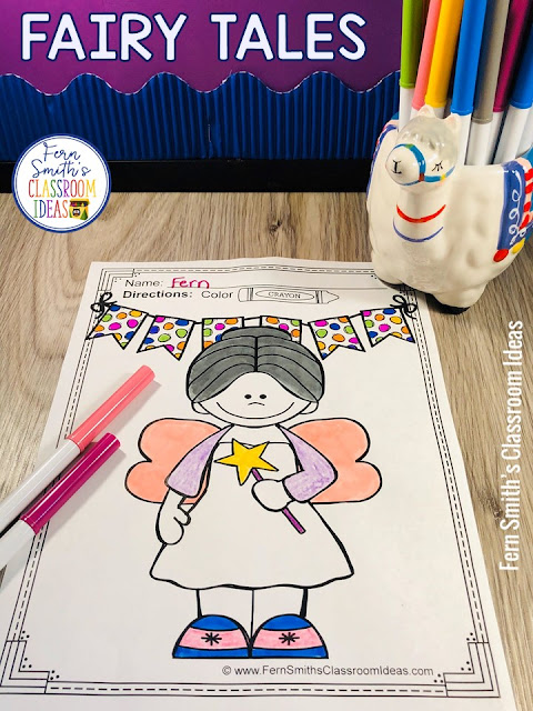 These Fairy Tales Coloring Pages are perfect to compliment any Fairy Tale unit you might be teaching your Pre-K, Kindergartners or First Graders. #FernSmithsClassroomIdeas