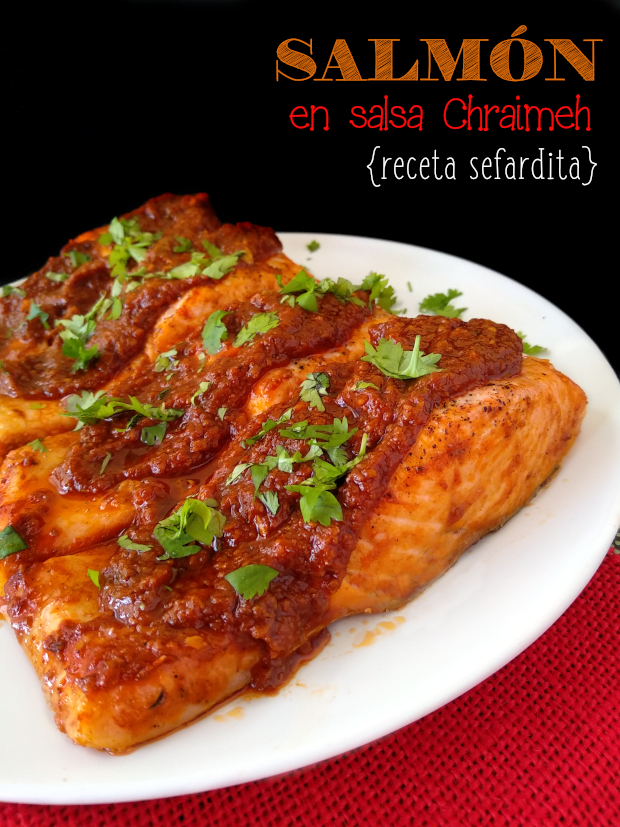 SALMON EN SALSA CHRAIMEH receta judio sefardita la cocinera novata receta cocina hebrea pescado guiso