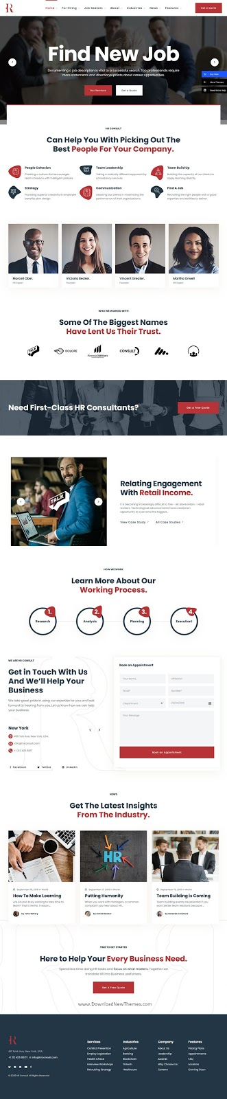 Human Resources & Recruiting WordPress Theme