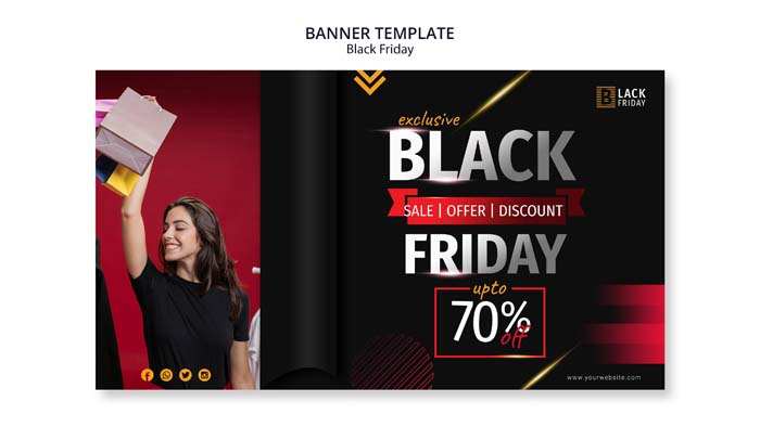 Black Friday Concept Banner Template