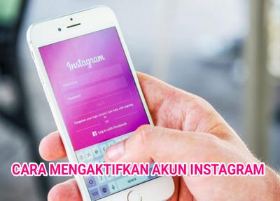 Cara Mengaktifkan Instagram Yang dinonaktifkan Pihak Instagram